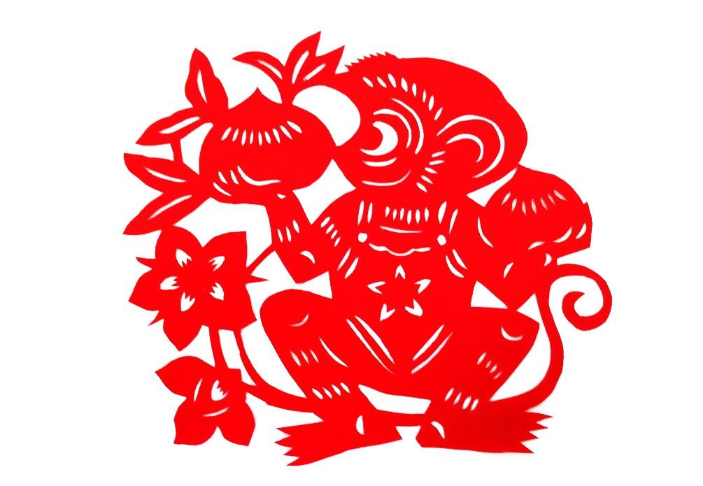 十二生肖剪纸猴_艺术品